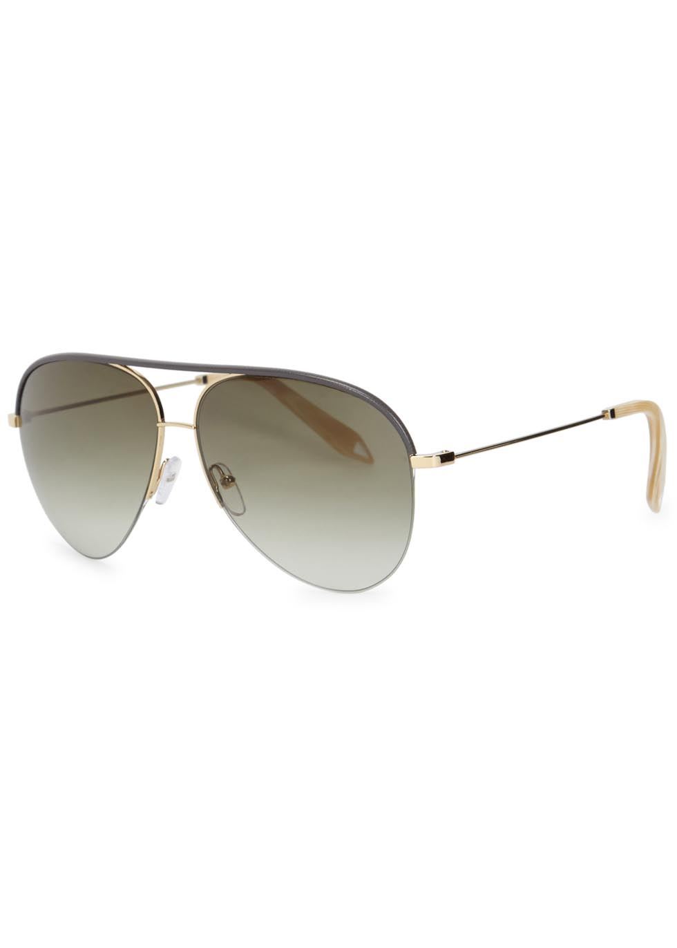 Classic Victoria gold tone aviator-style sunglasses - Victoria Beckham