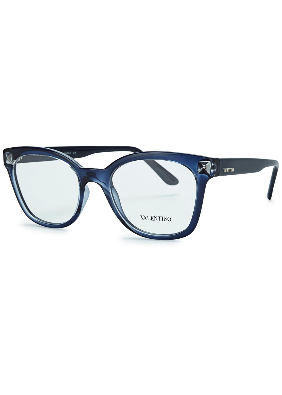Blue wayfarer-style optical glasses - Valentino Garavani