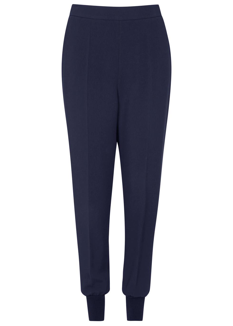 Julia navy crepe jogging trousers - Stella McCartney