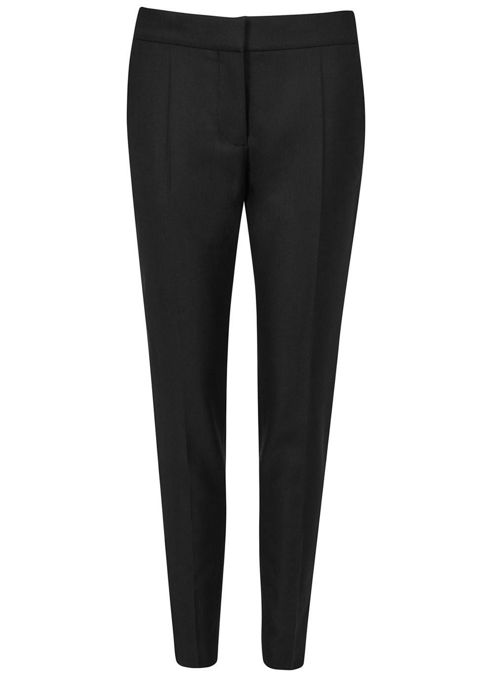 Vivian black slim-leg wool trousers - Stella McCartney