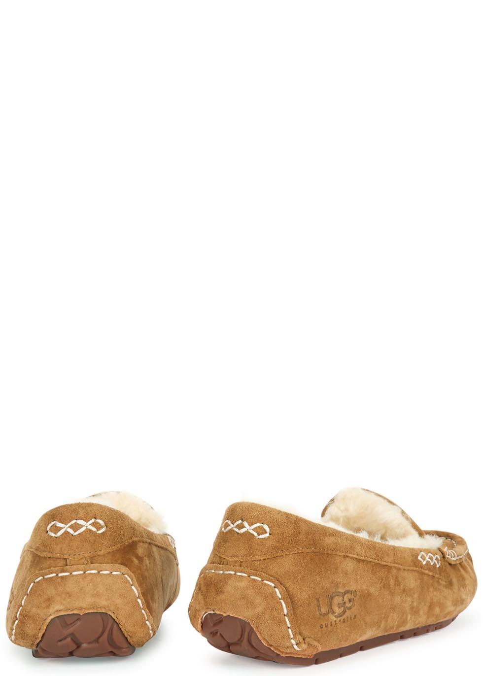 Ansley chestnut suede slippers - UGG