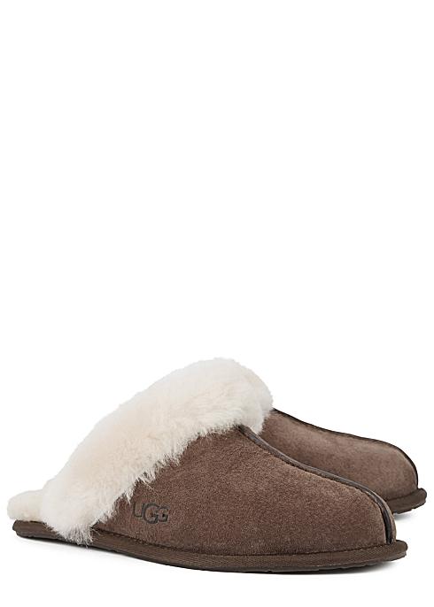 9502e02f698 UGG Scuffette II dark brown suede slippers - Harvey Nichols