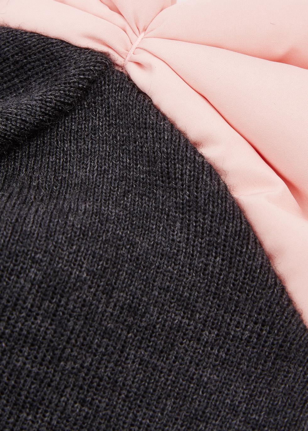 Charcoal bow-embellished beanie - Federica Moretti