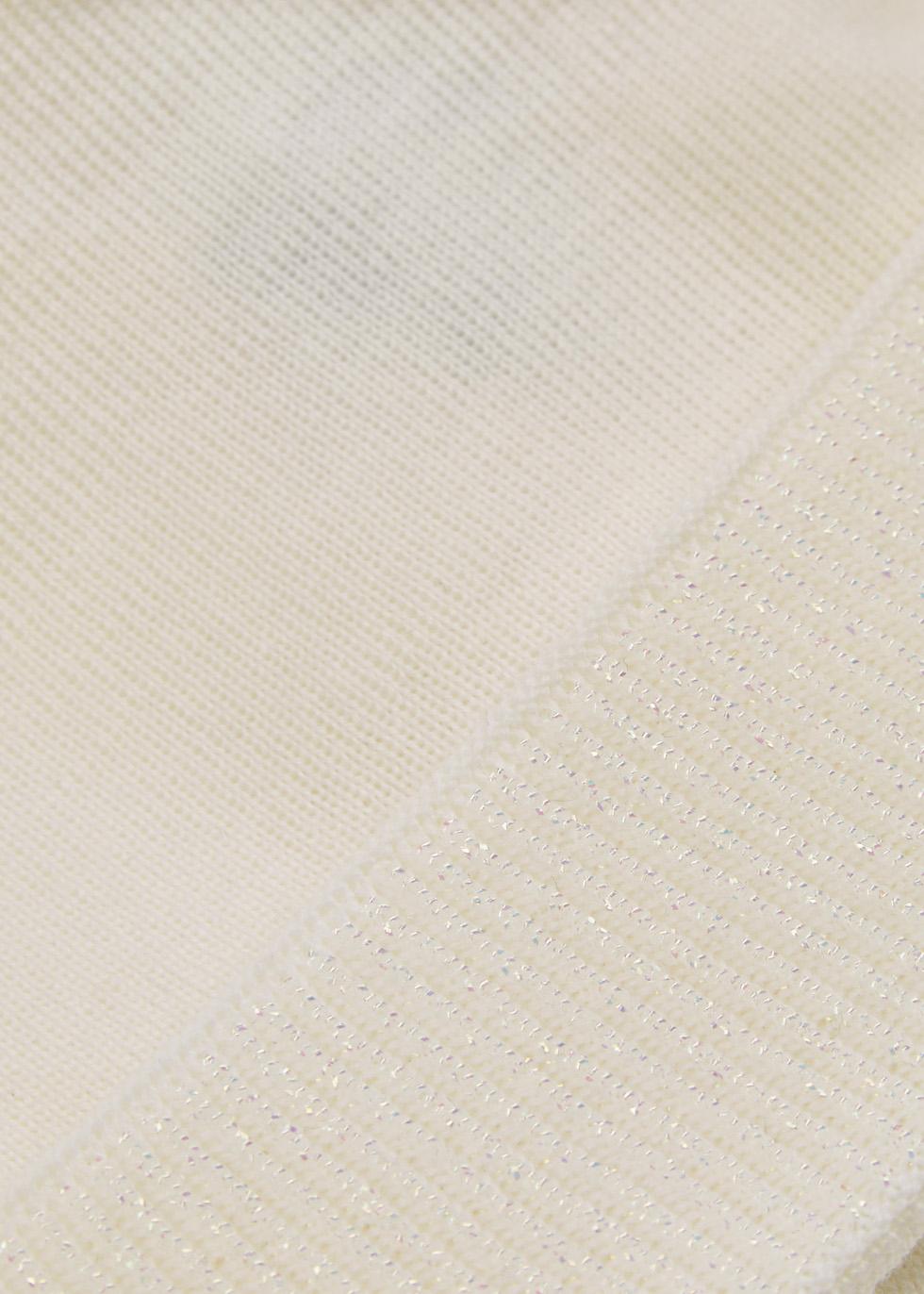 White bow-embellished beanie - Federica Moretti