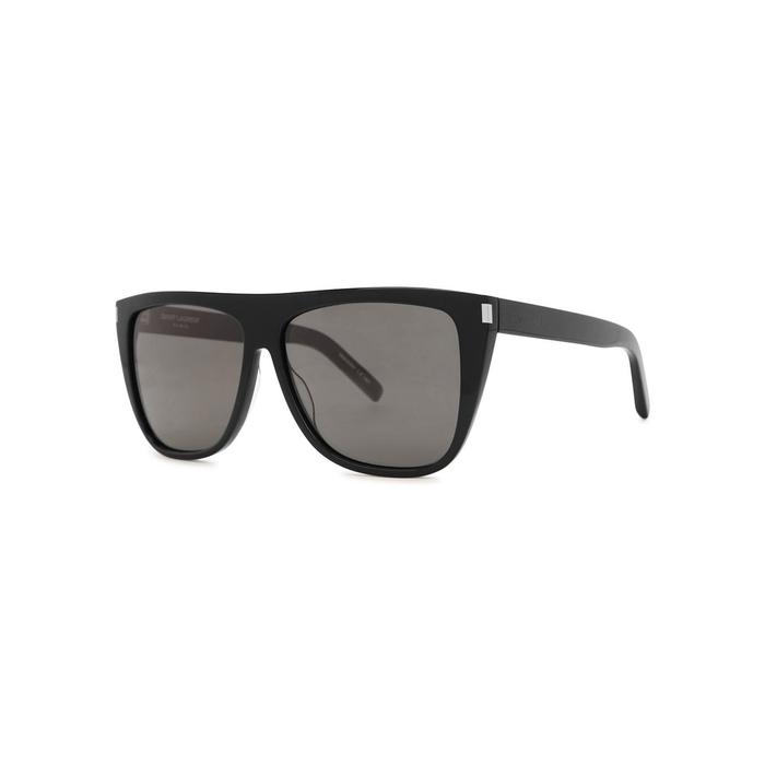 Saint Laurent SL 1 Black D-frame Sunglasses