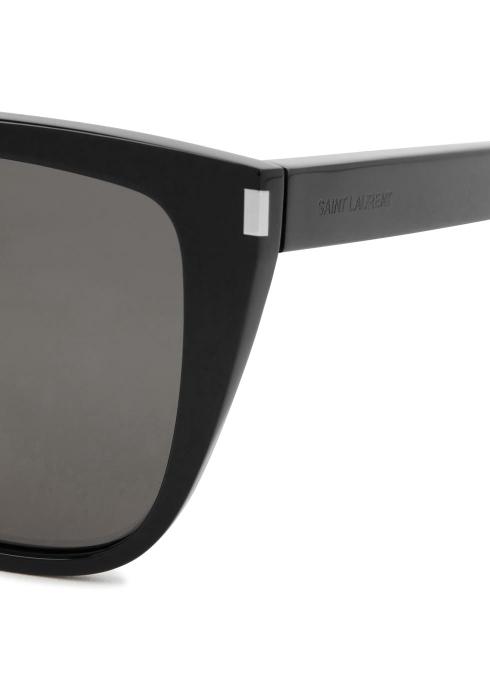 038c763858 Saint Laurent SL 1 black D-frame sunglasses - Harvey Nichols