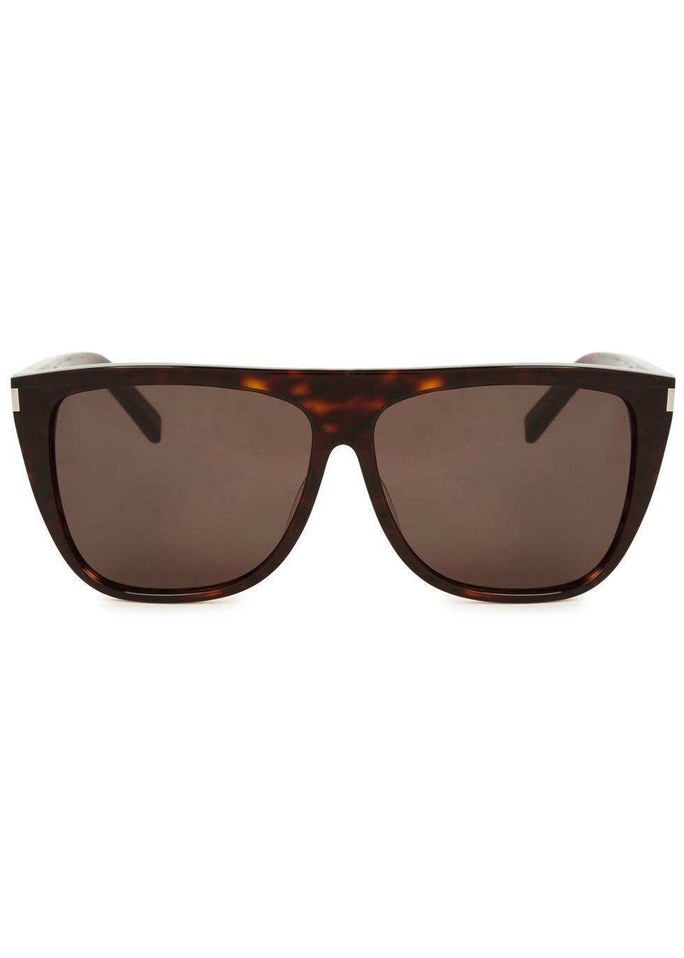 SL 1 tortoiseshell D-frame sunglasses - Saint Laurent