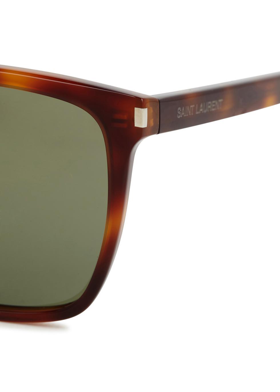 SL 93 tortoiseshell square-frame sunglasses - Saint Laurent