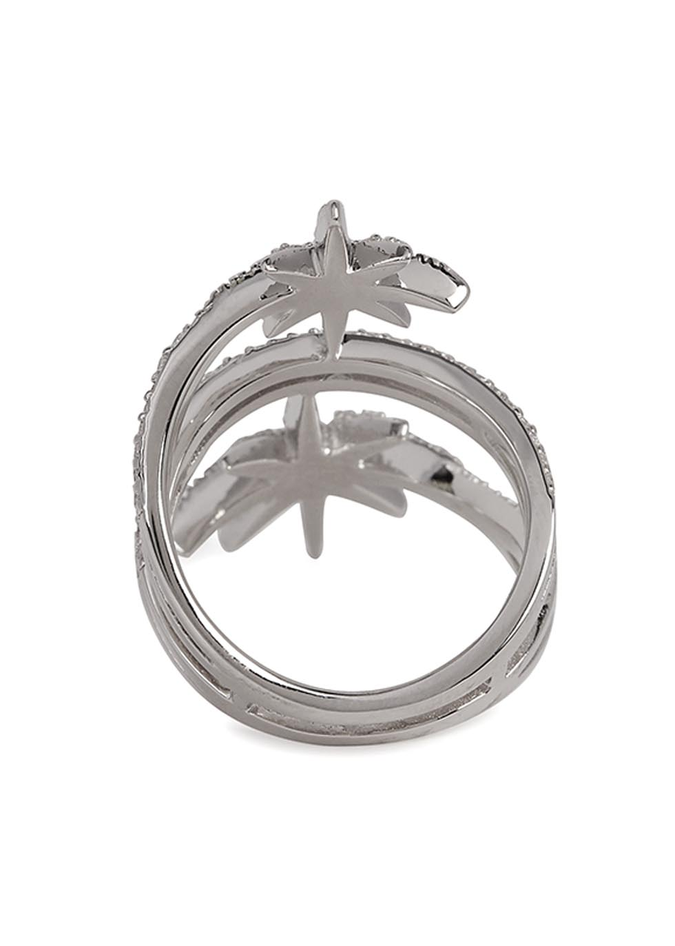 Double star sterling silver ring - APM Monaco
