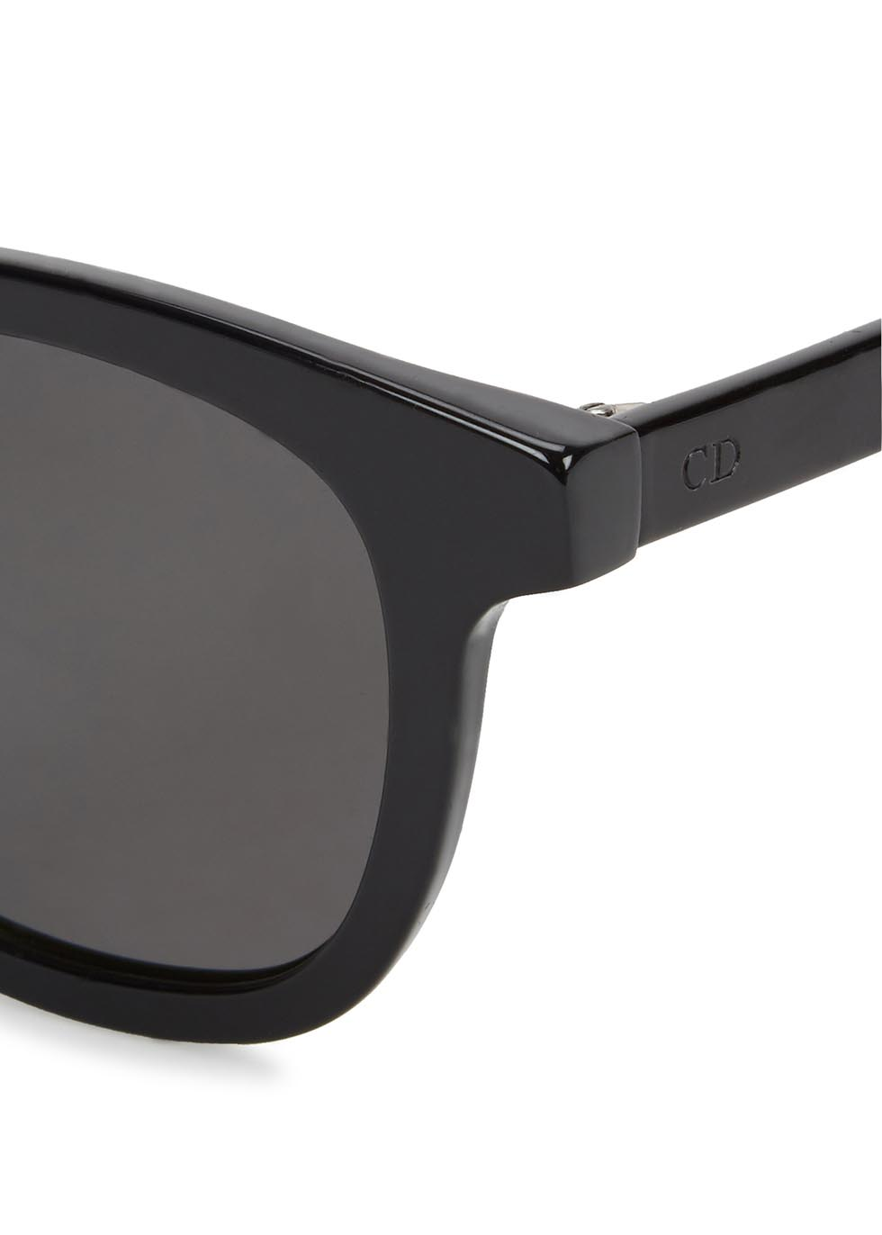 Black Tie 219S mirrored oval-frame sunglasses - Dior Homme