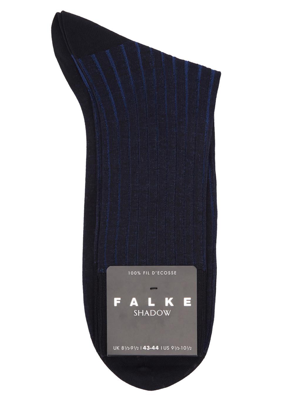 Shadow black ribbed cotton socks - Falke