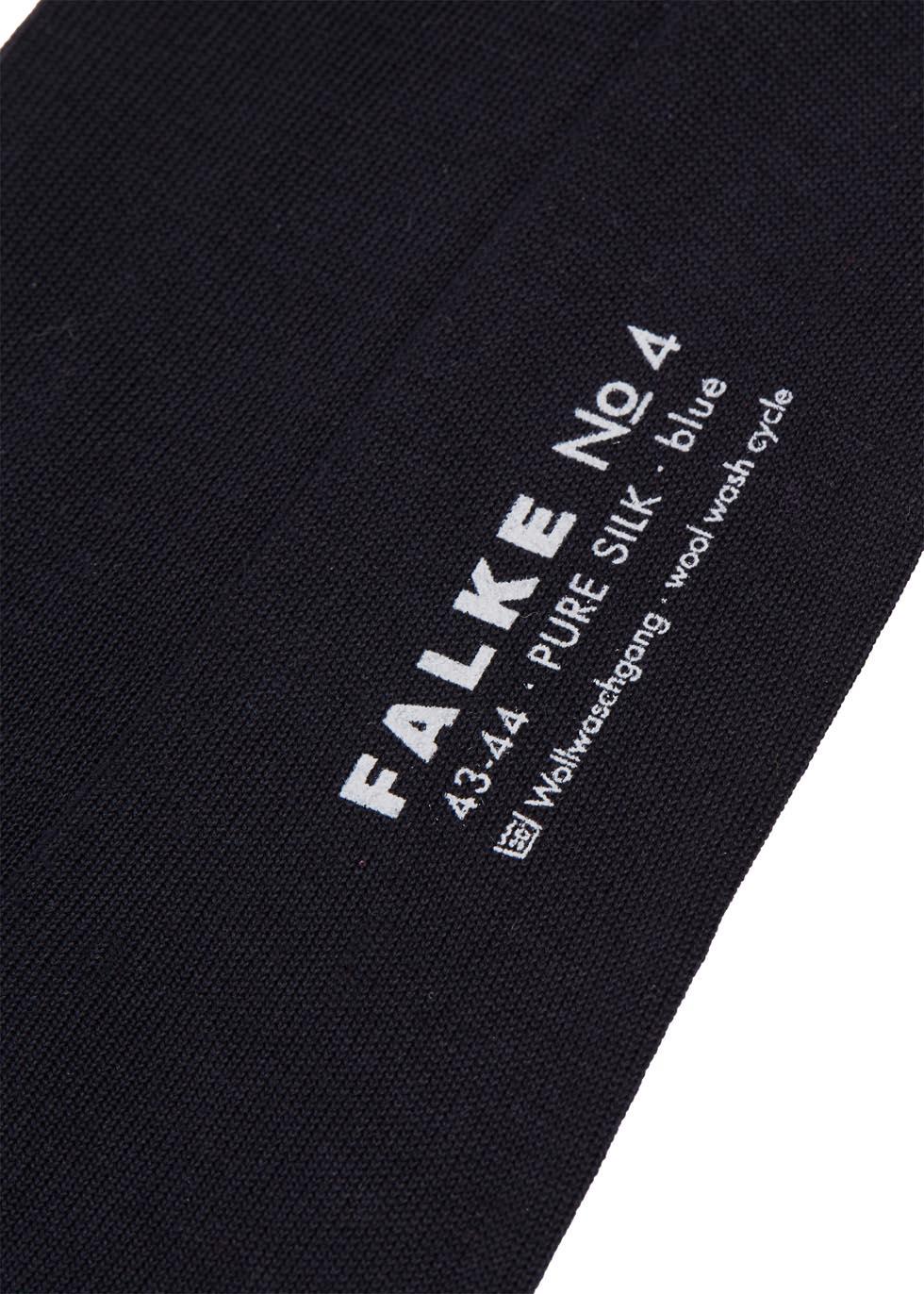 Navy fine-knit silk socks - Falke