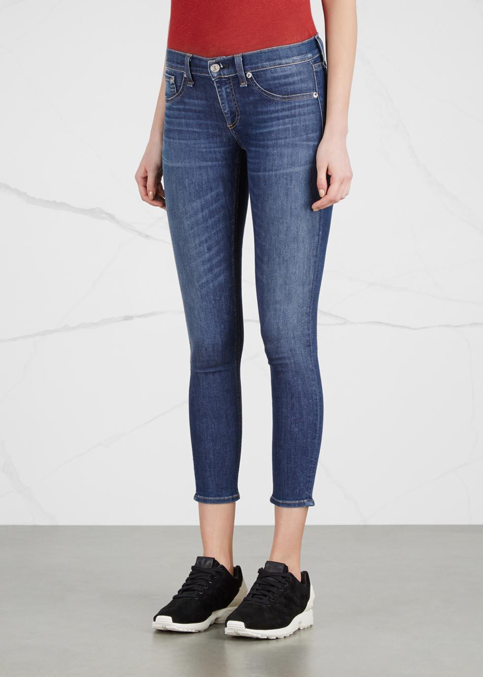 Capri blue cropped skinny jeans - rag & bone