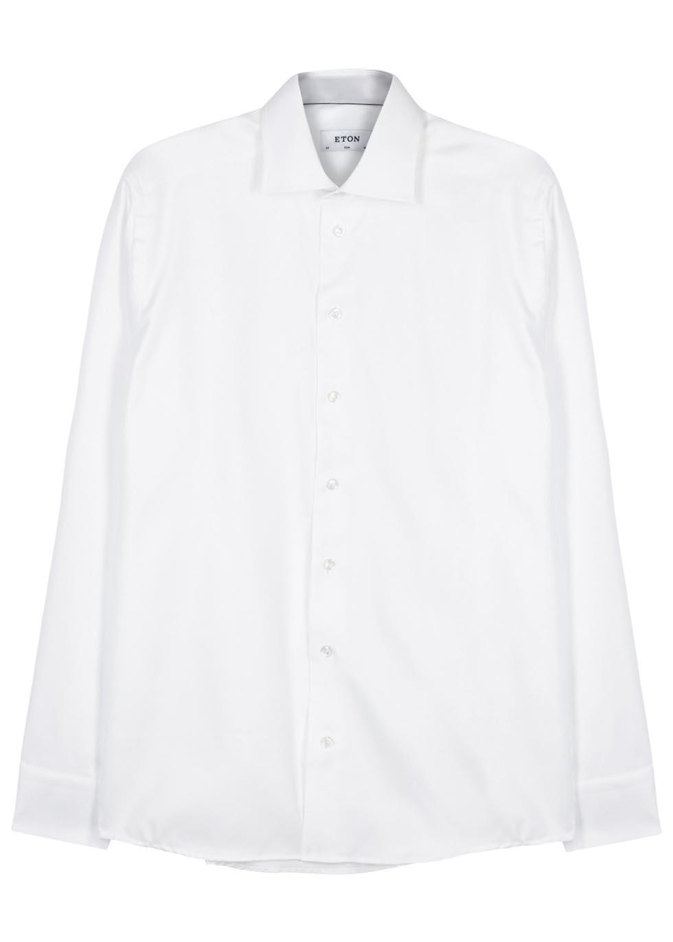 White slim cotton shirt - Eton