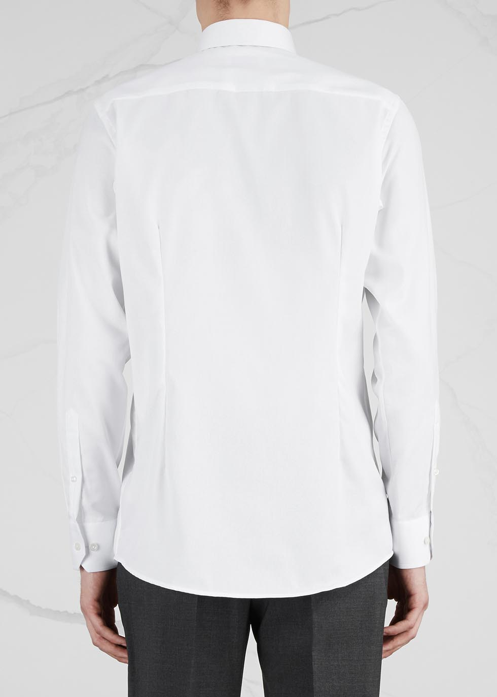 White contemporary cotton shirt - Eton