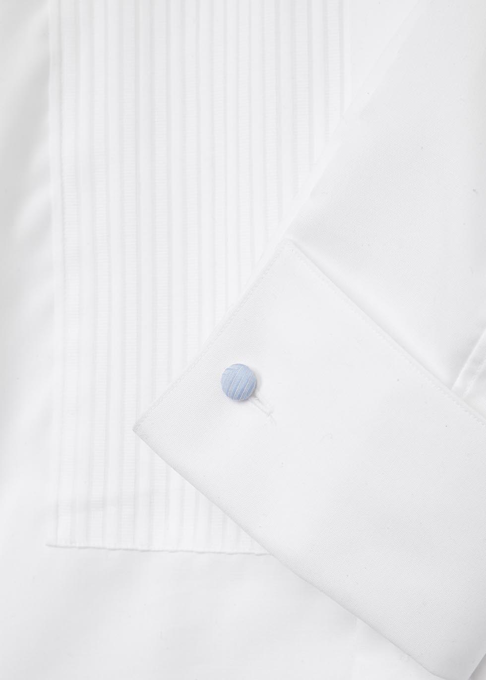 White contemporary cotton tuxedo shirt - Eton
