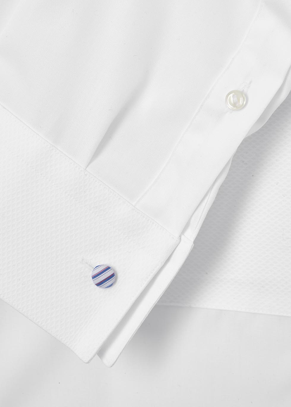 White slim cotton tuxedo shirt - Eton
