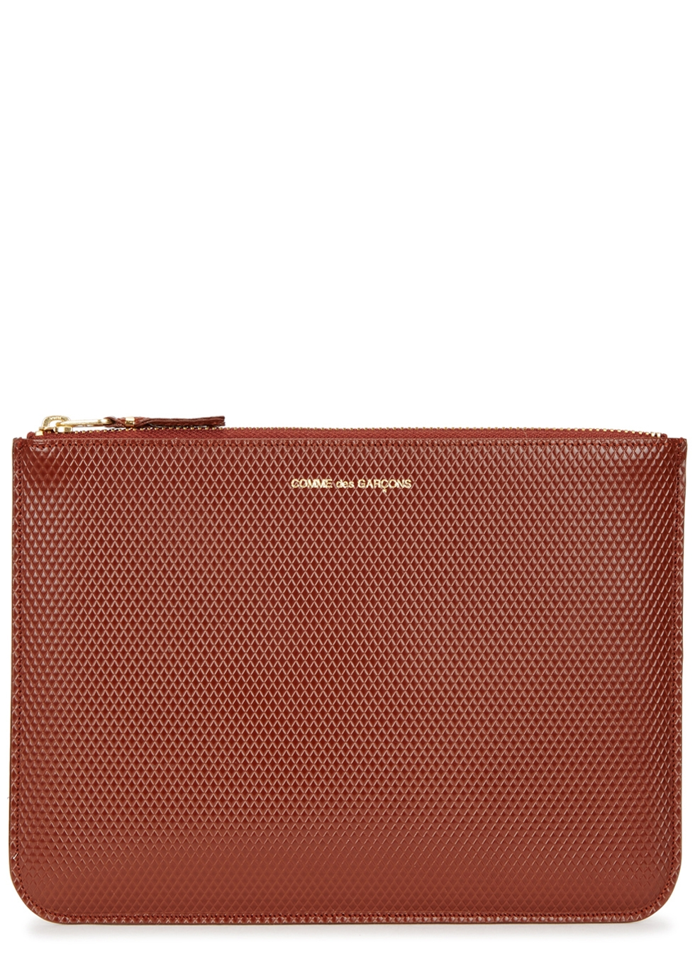 Brown embossed leather pouch - Comme des Garçons