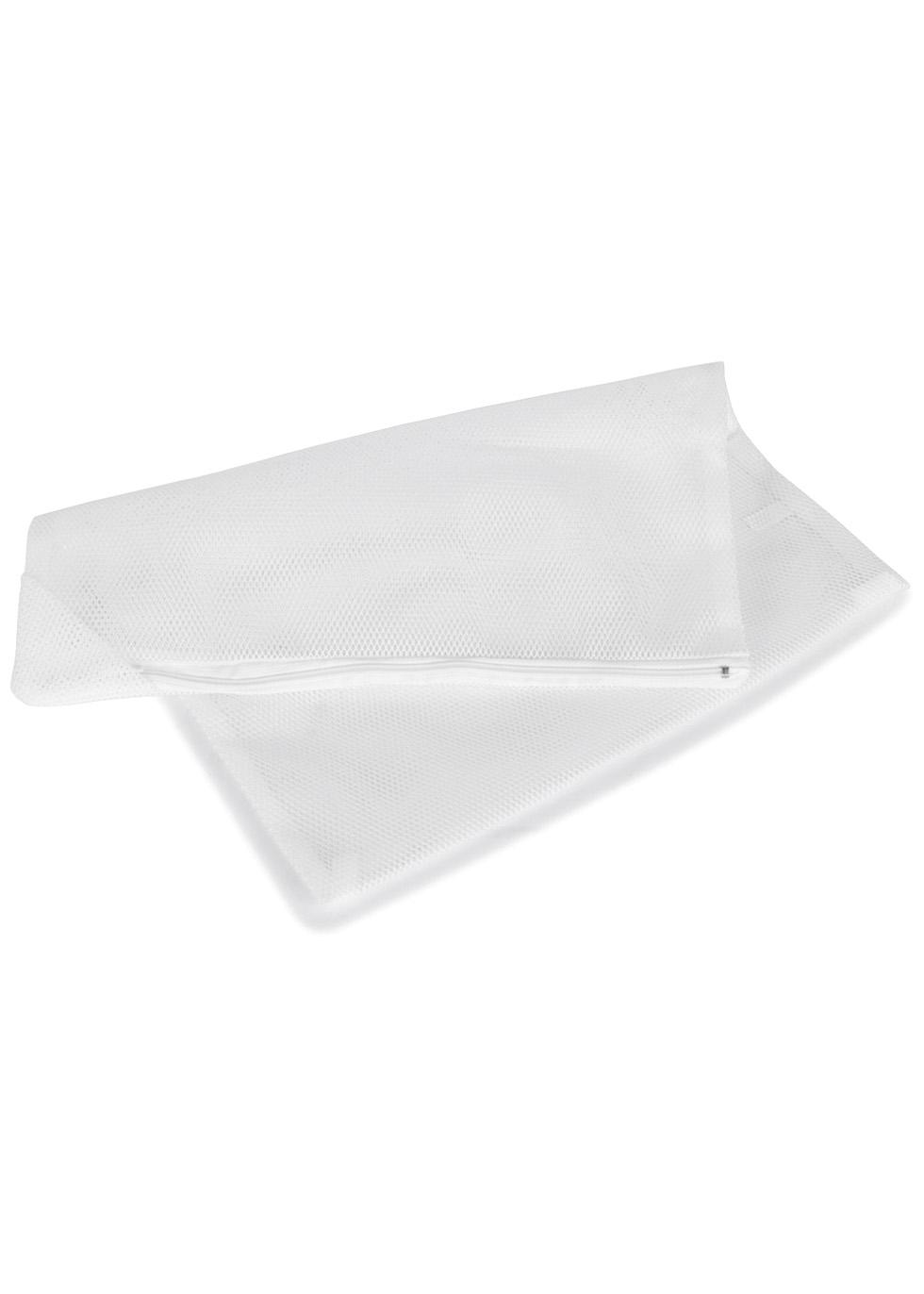 White medium mesh lingerie laundry pouch - FASHION FORMS