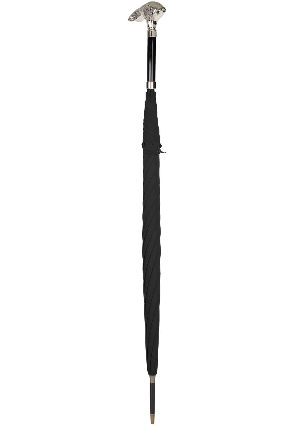 Rabbit-handle black umbrella - Fox Umbrellas