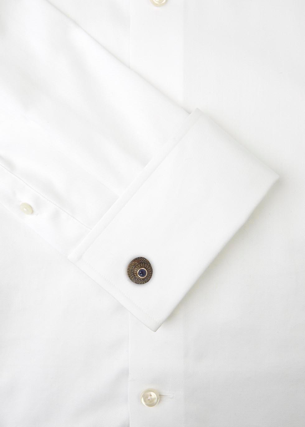 Japanese umbonium shell cufflinks - Trianon