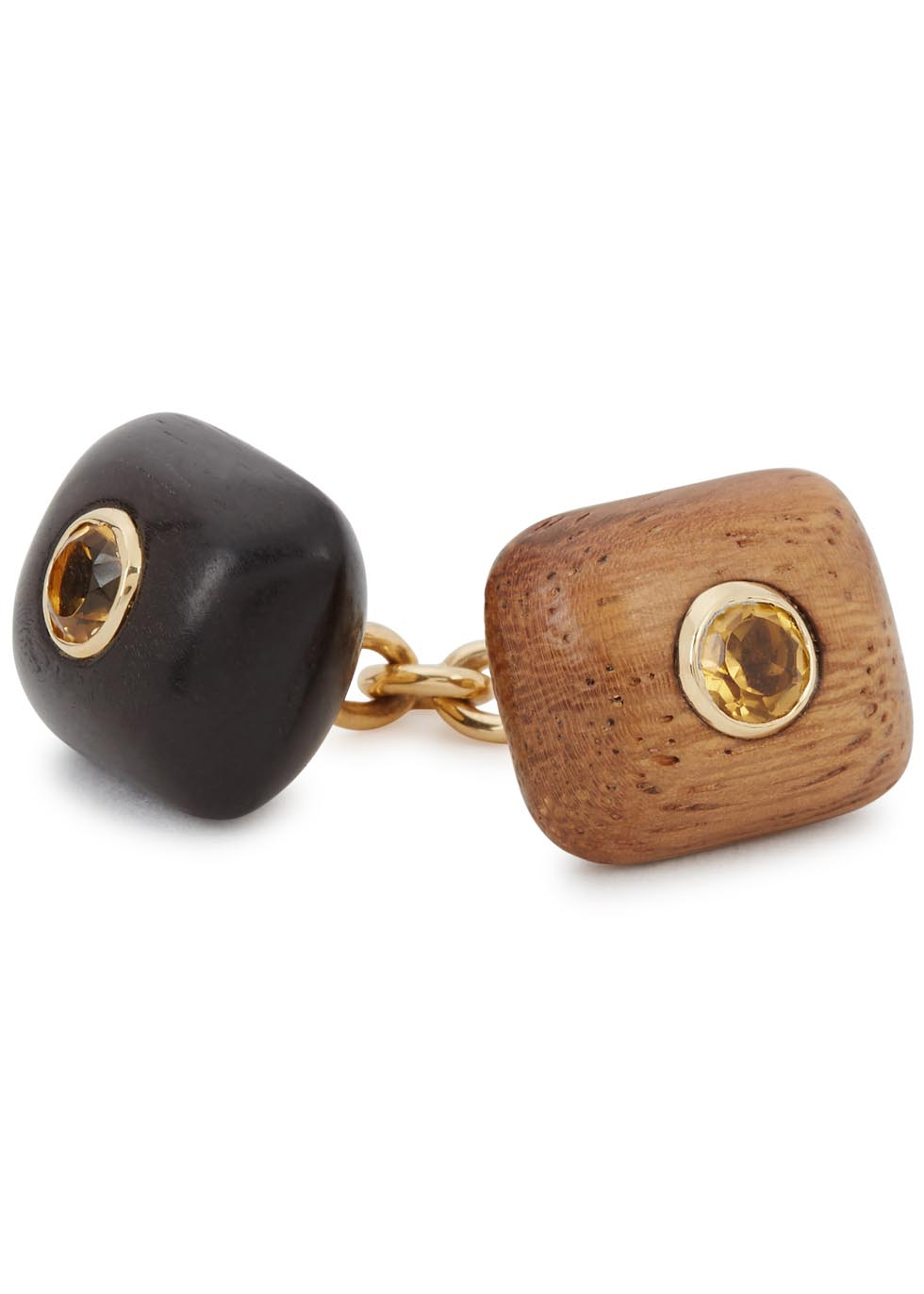 Puffed Cushion 18kt yellow gold cufflinks - Trianon