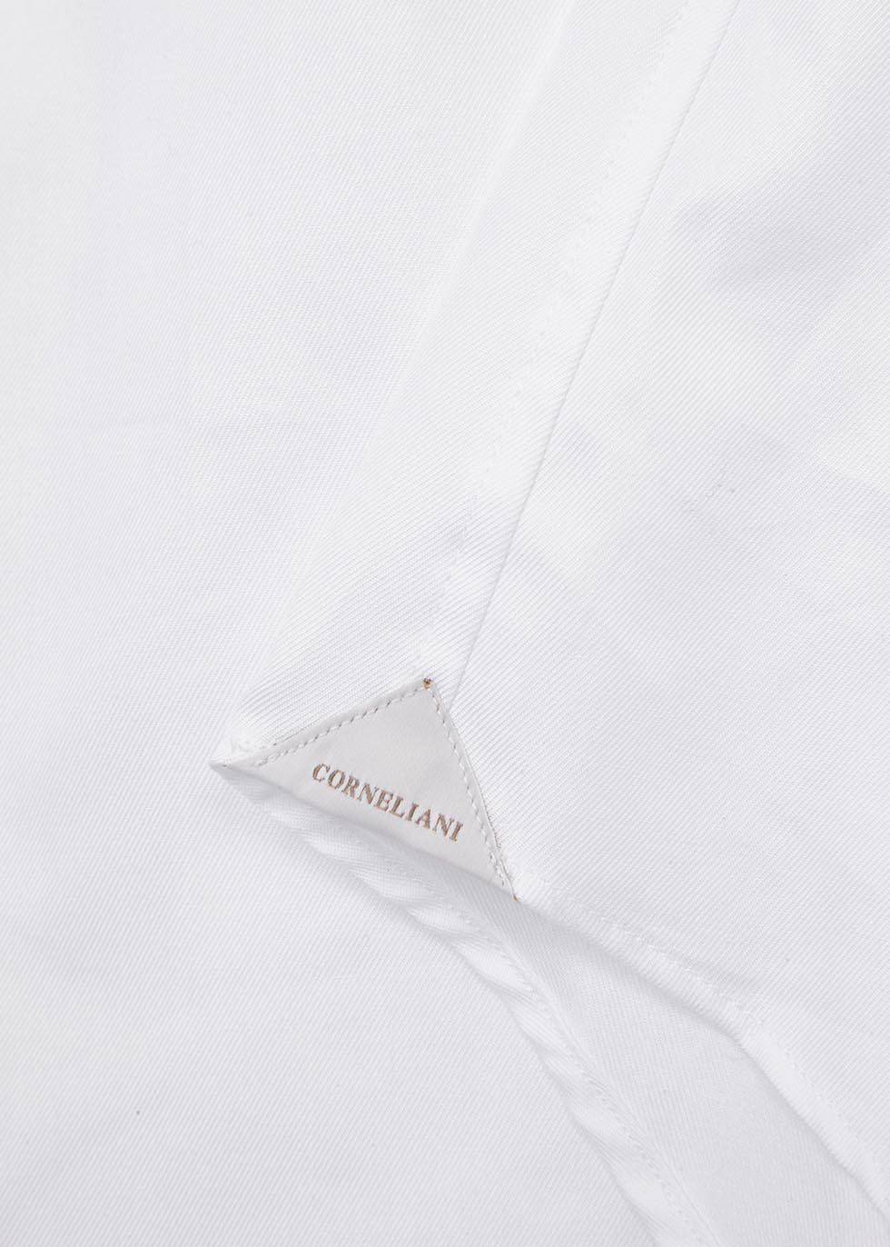 White cotton twill shirt - Corneliani