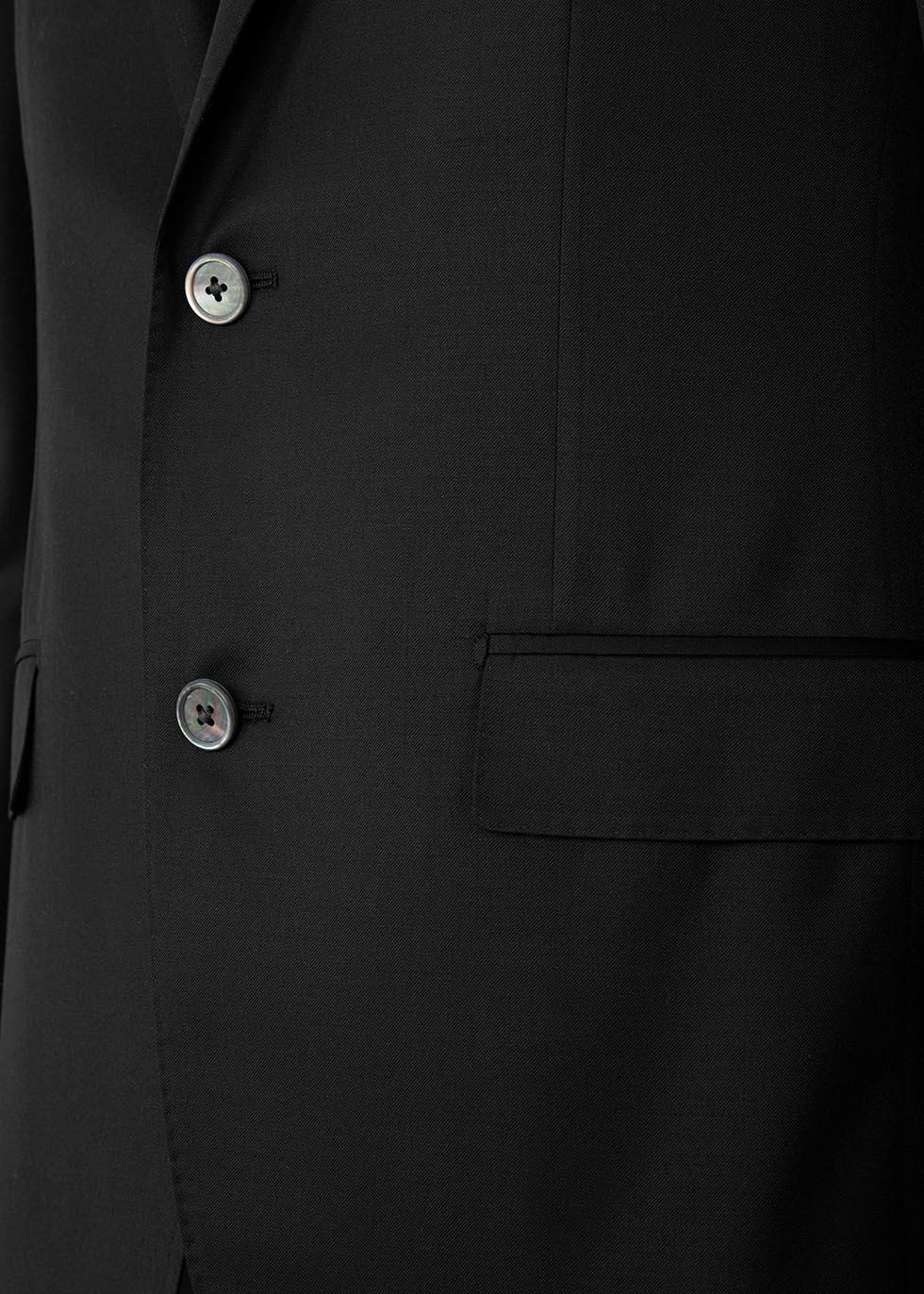 Black super 110's wool suit - Corneliani