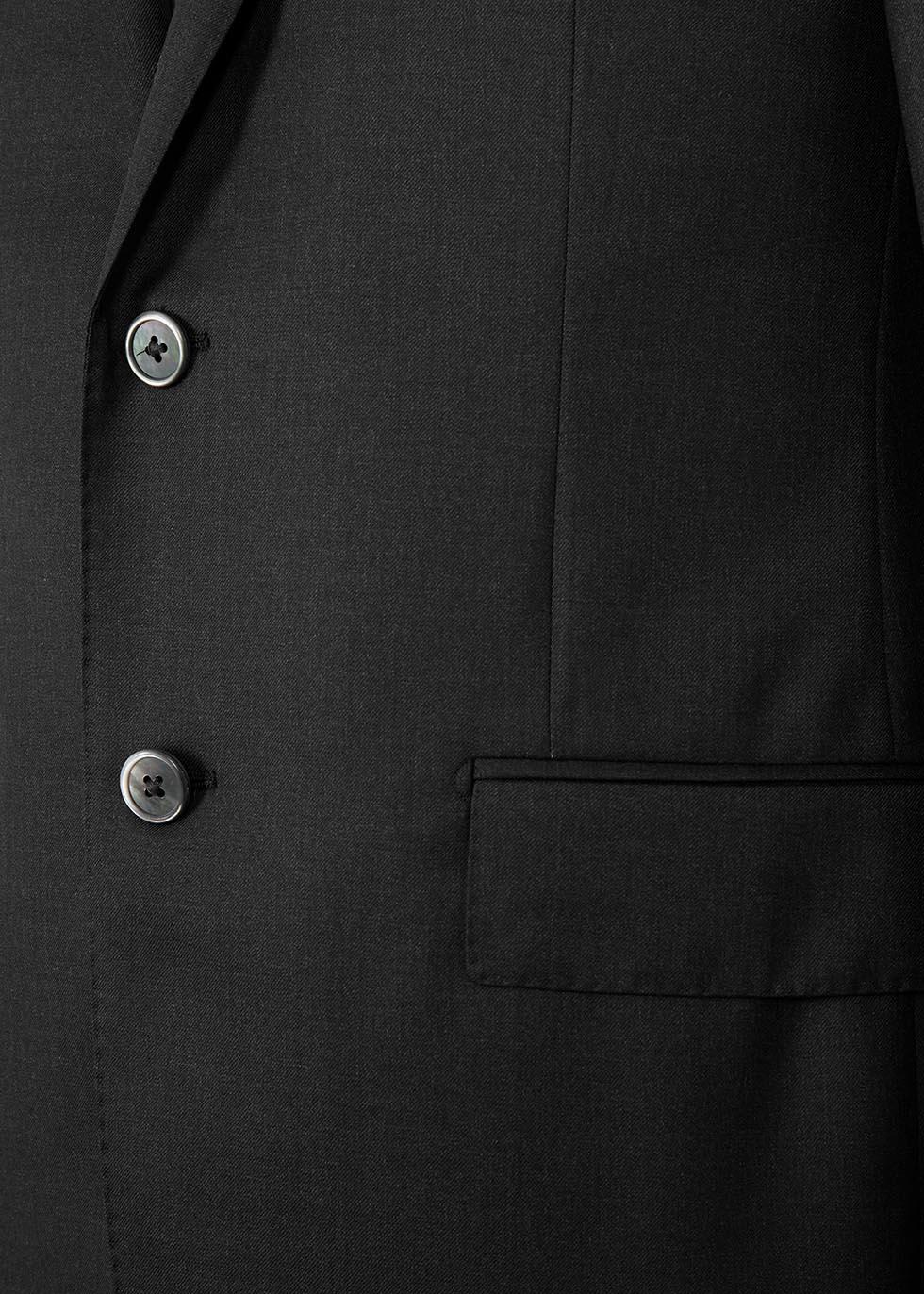 Charcoal super 160's wool suit - Corneliani