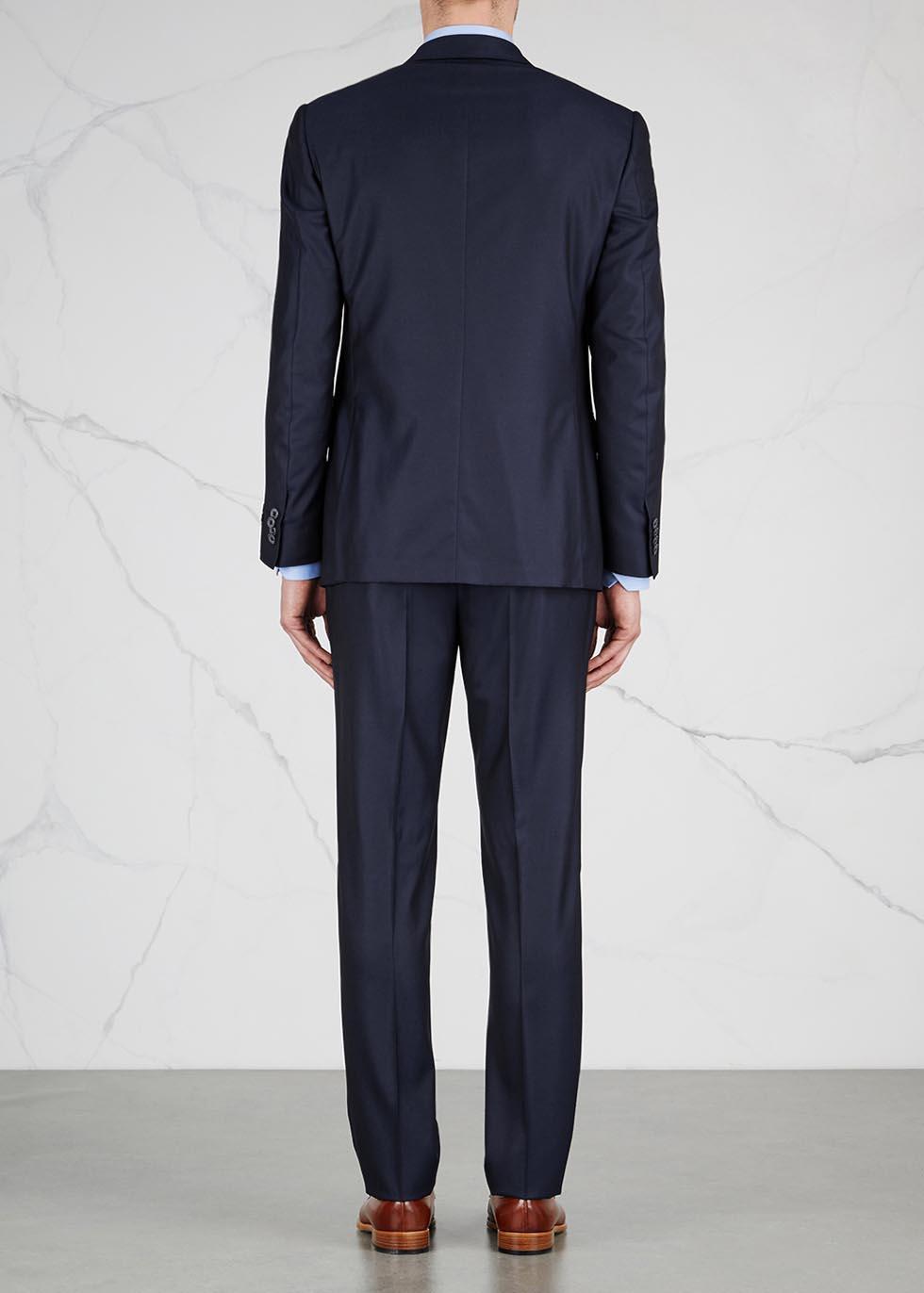 Dark blue super 160's wool suit - Corneliani