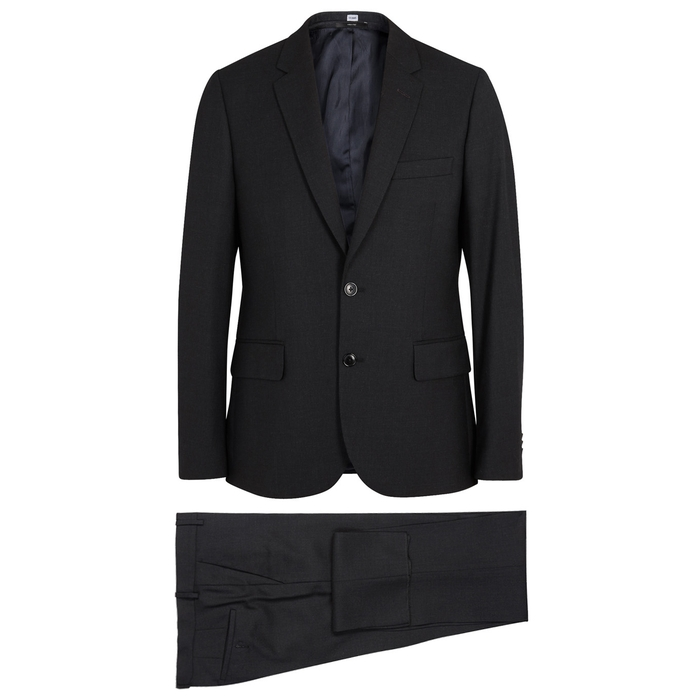 Paul Smith Soho Charcoal Wool Travel Suit