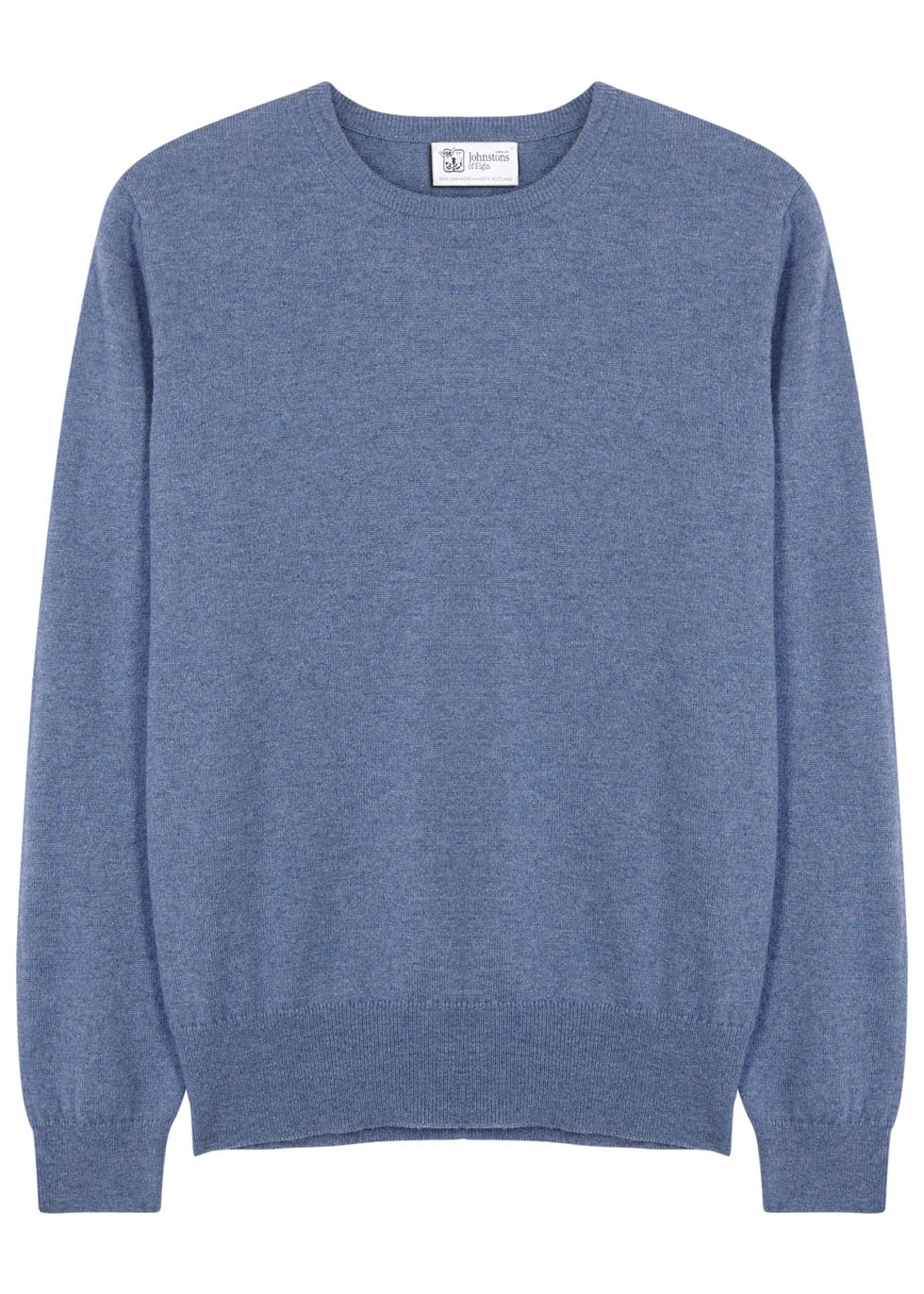 Blue cashmere jumper - Johnstons of Elgin
