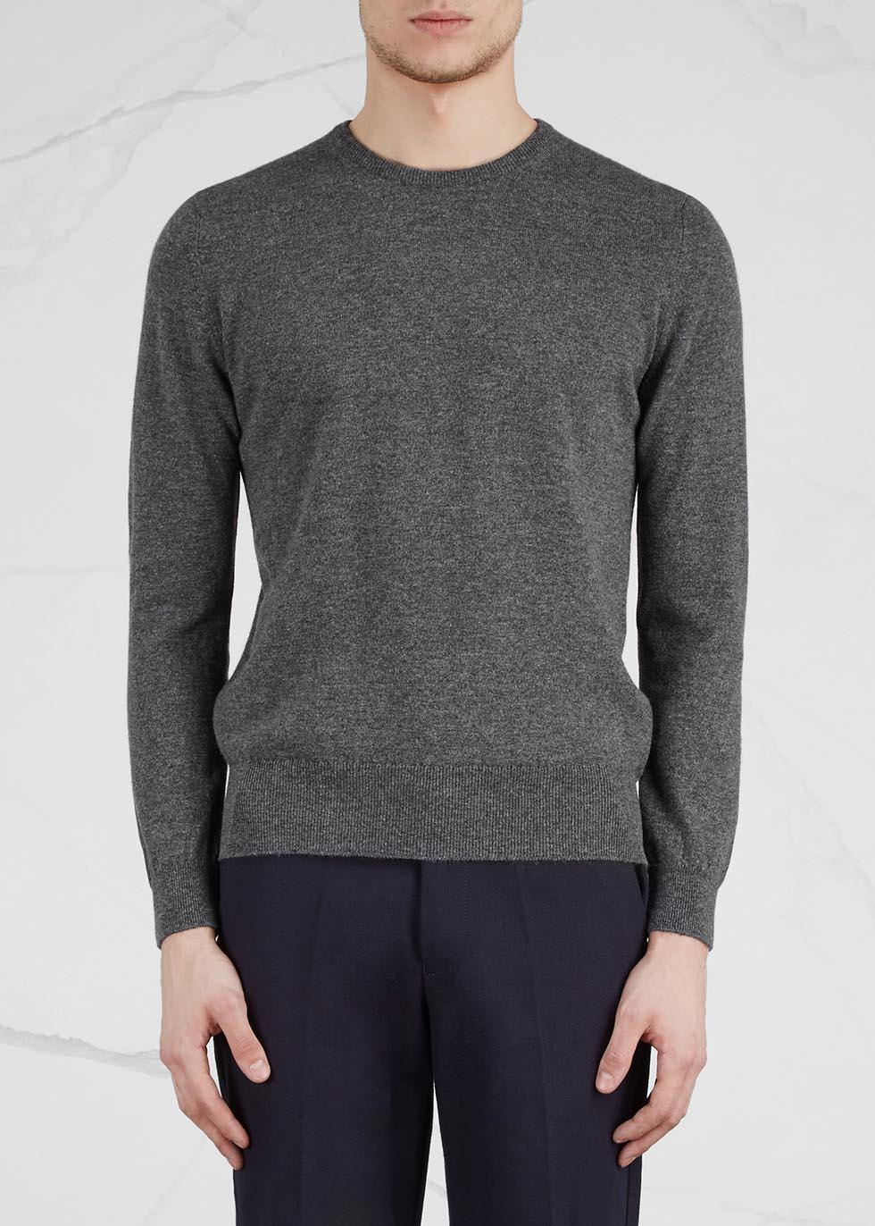Charcoal cashmere jumper - Johnstons of Elgin