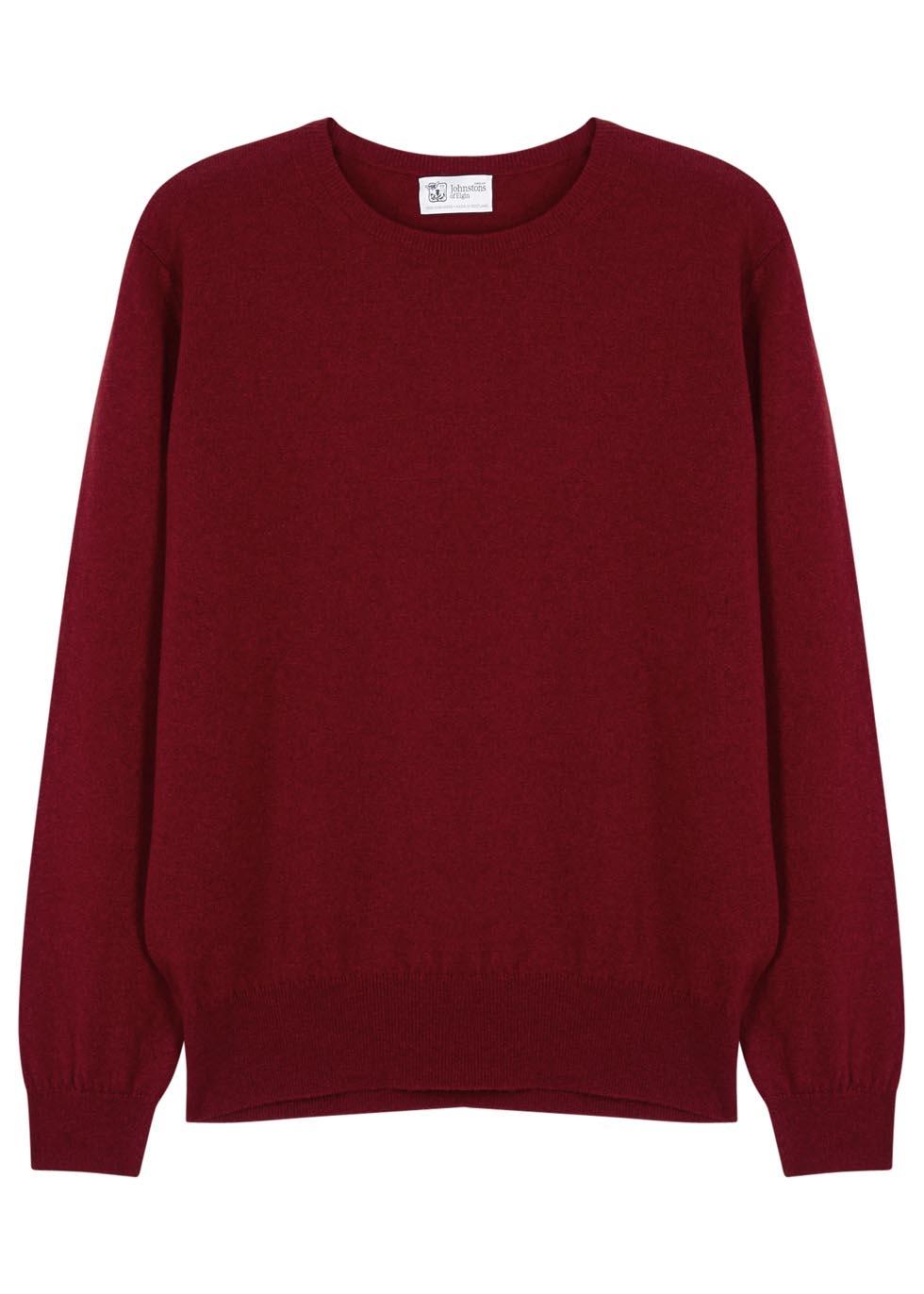 Red cashmere jumper - Johnstons of Elgin