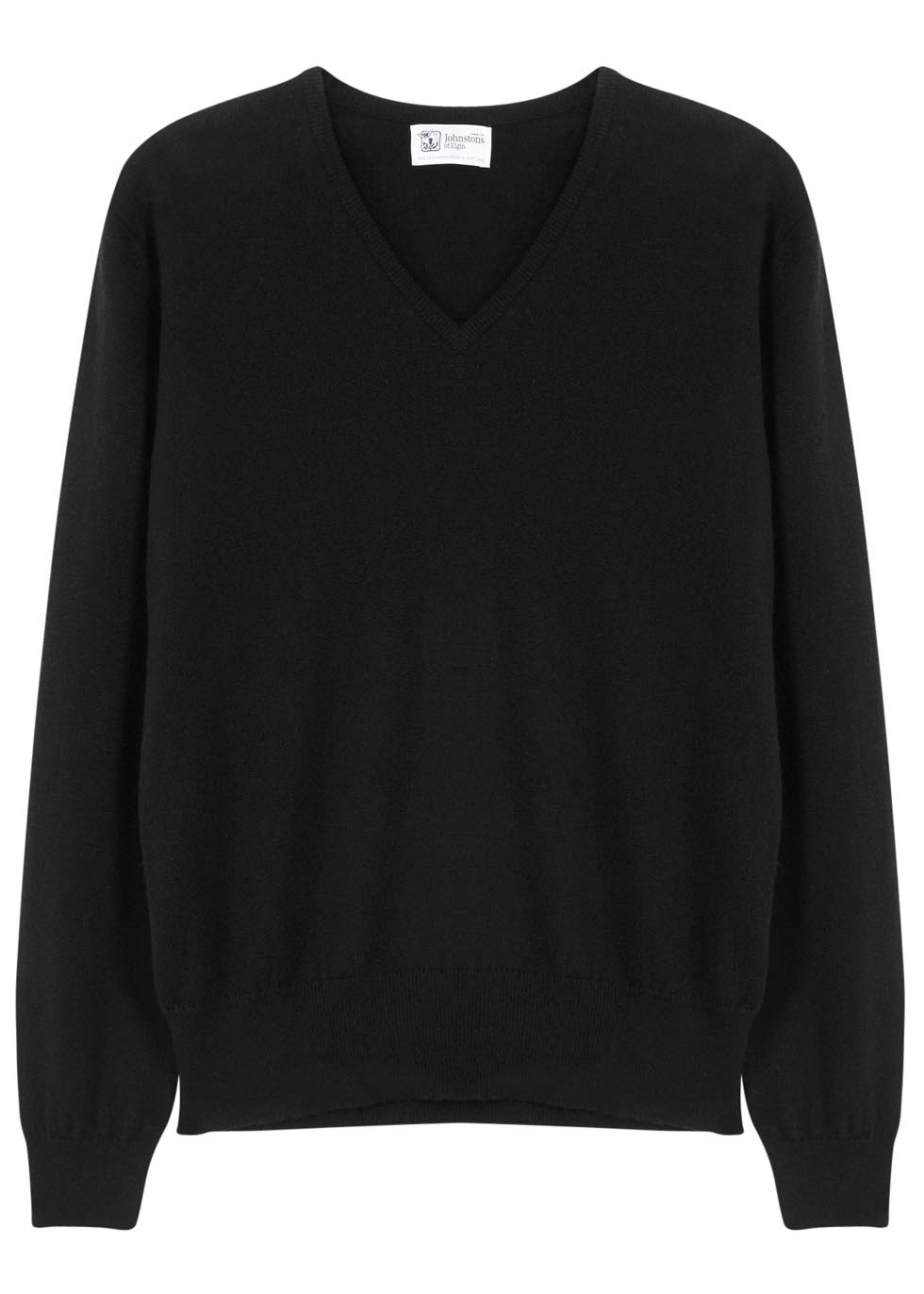 Black cashmere jumper - Johnstons of Elgin