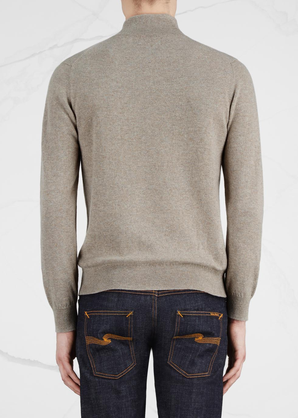 Stone cashmere jumper - Johnstons of Elgin