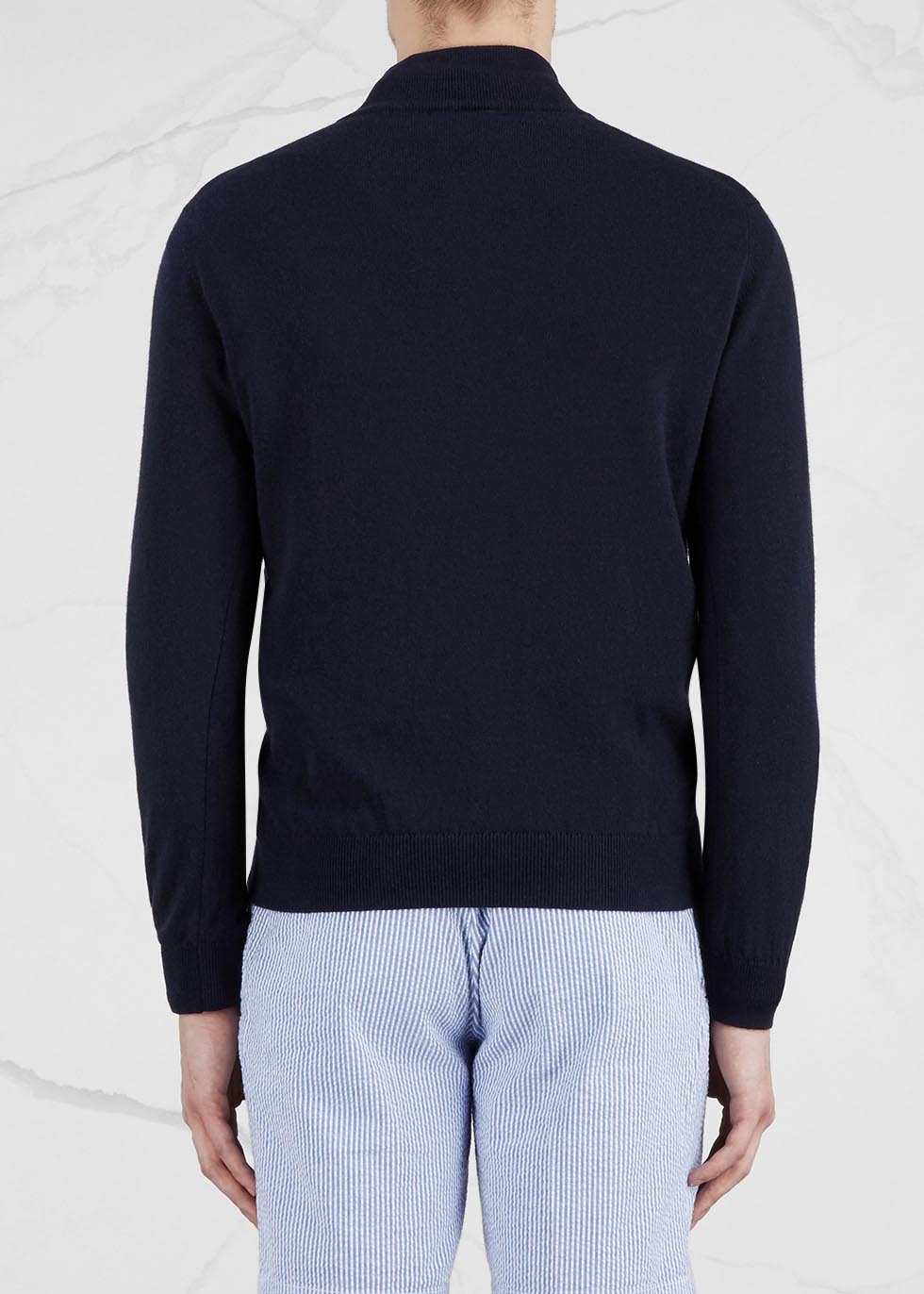 Navy cashmere jumper - Johnstons of Elgin