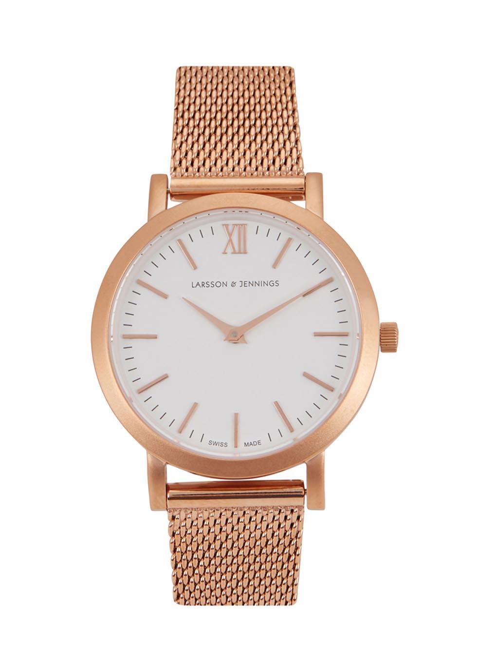 Liten rose gold-plated watch - Larsson & Jennings
