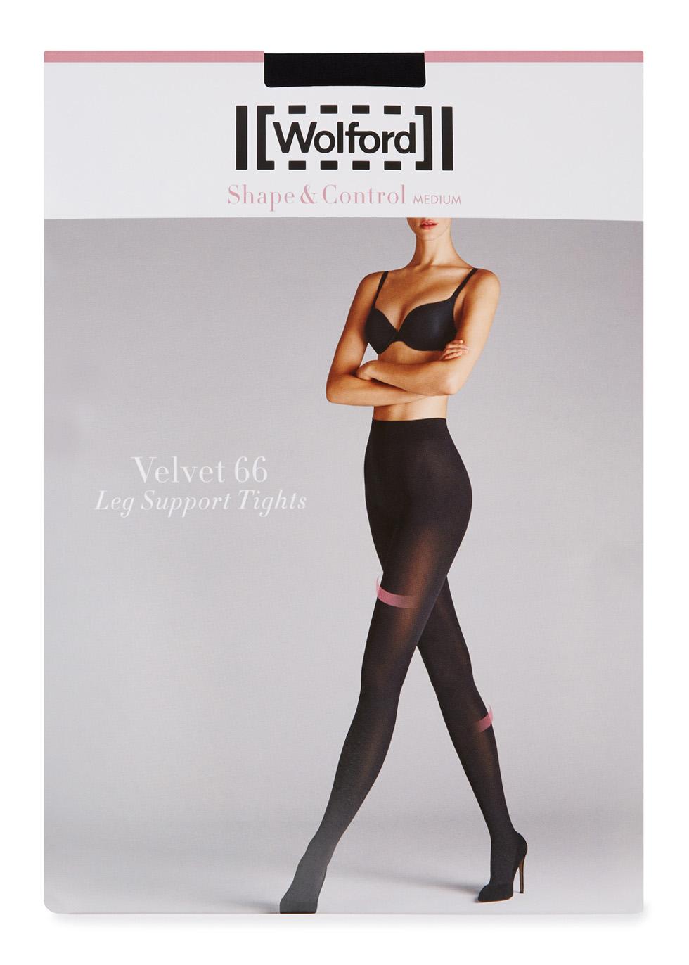 Velvet black 66 denier support tights - Wolford