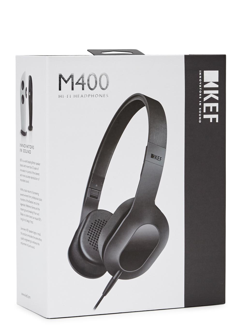 M400 black aluminium headphones - KEF