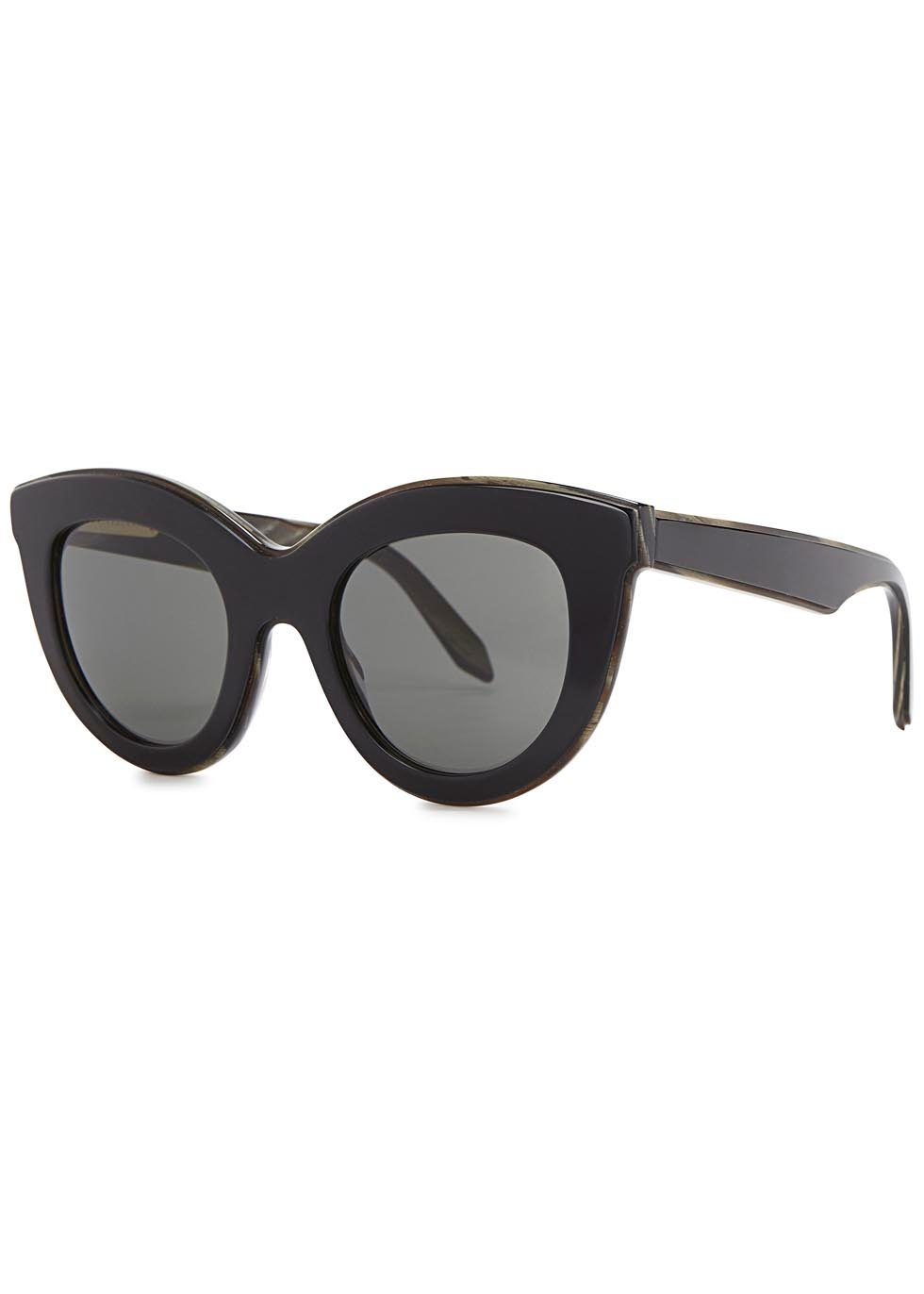 Layered Cat black cat-eye sunglasses - Victoria Beckham