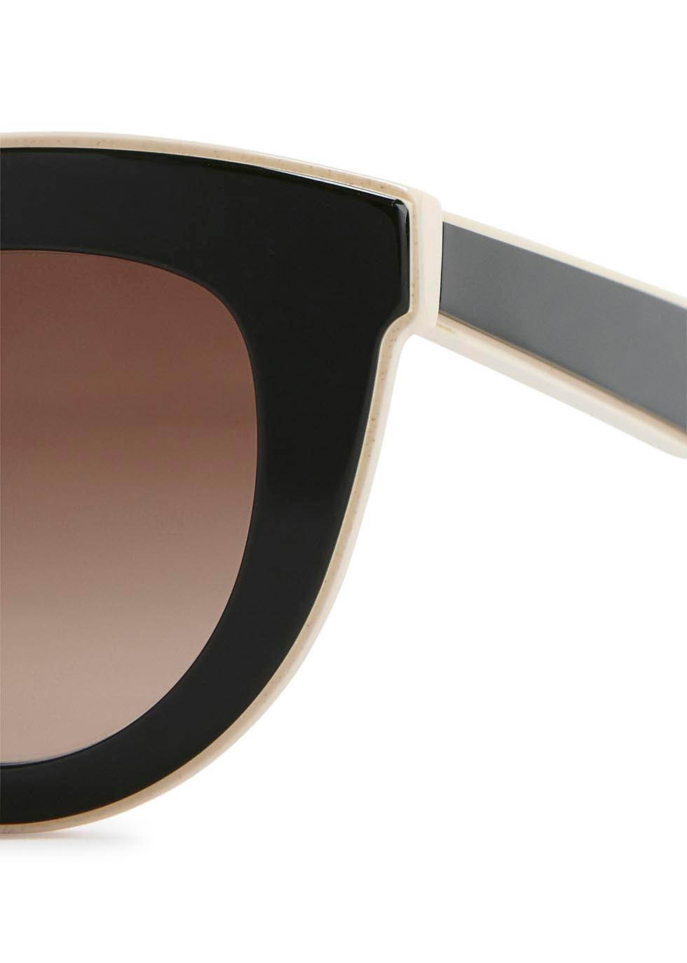 Layered Cat green cat-eye sunglasses - Victoria Beckham
