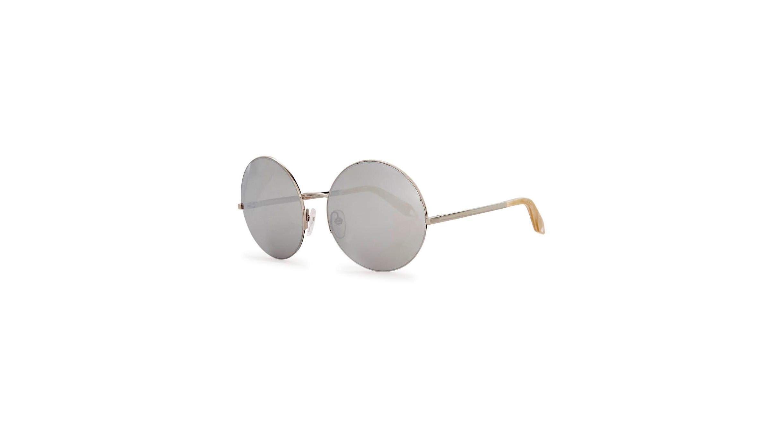dd3e22cc490d Victoria Beckham Supra Round mirrored round-frame sunglasses ...