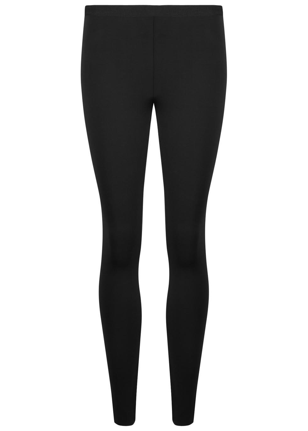 Black neoprene leggings - Helmut Lang