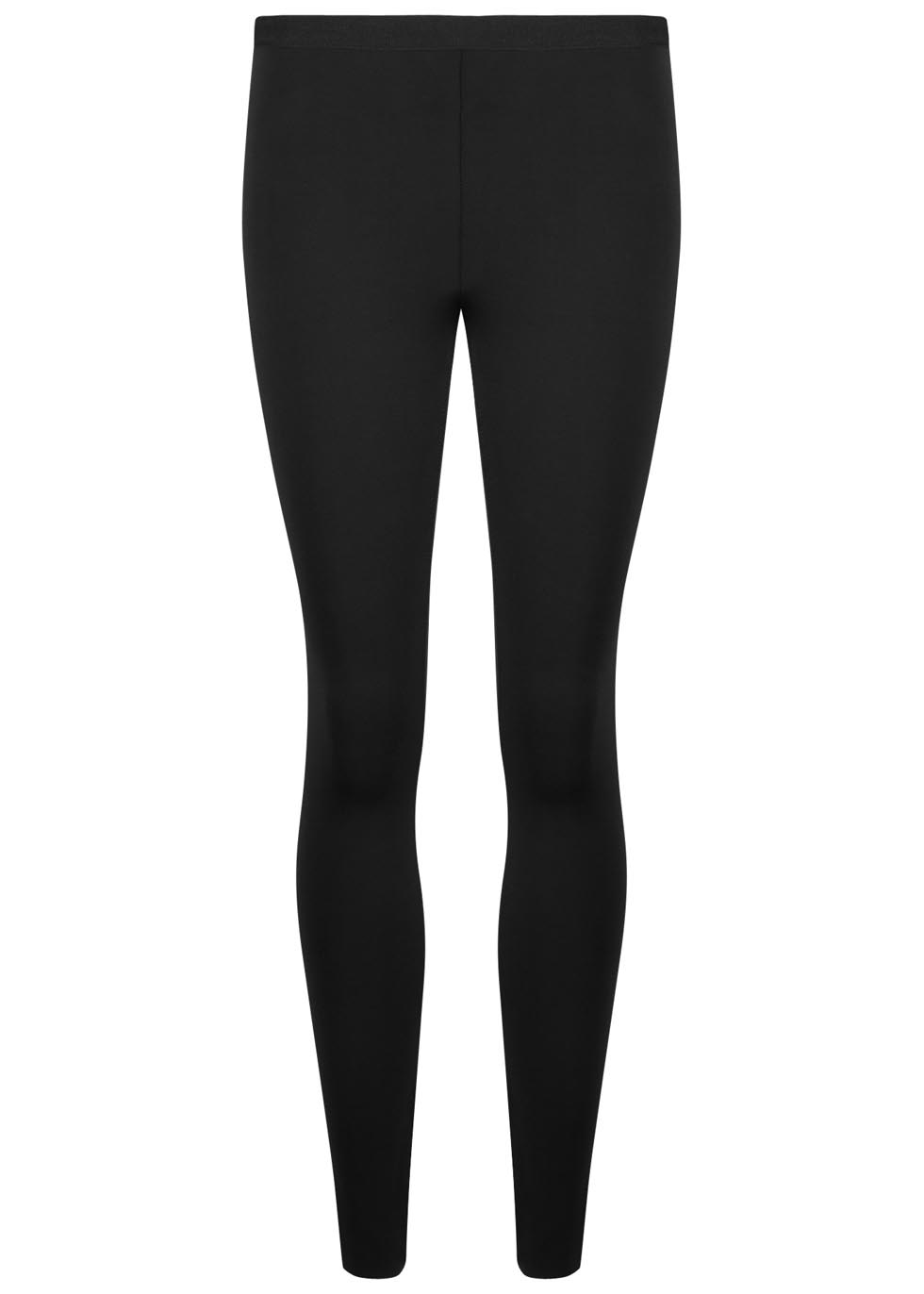 Black neoprene leggings