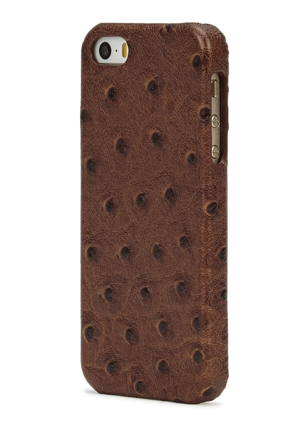 Ostrich-effect leather iPhone 5/5S/SE case - The Case Factory