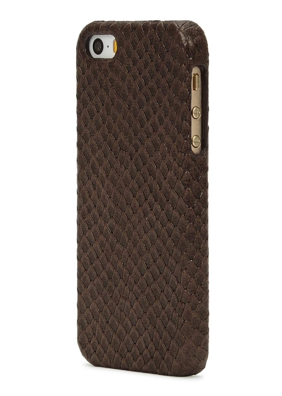 Cobra-effect leather iPhone 5/5S/SE case - The Case Factory
