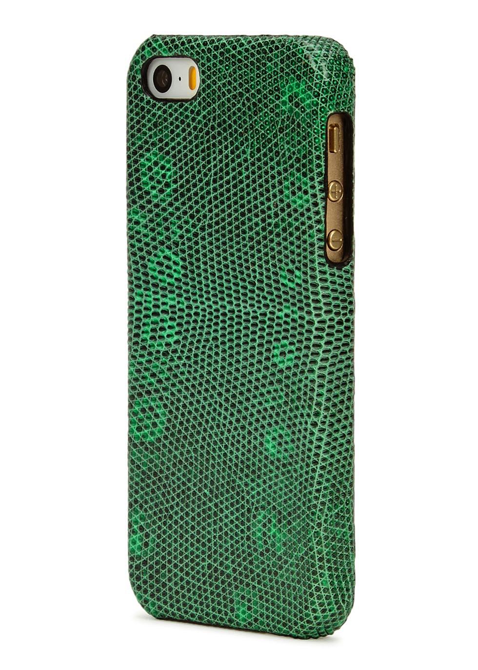 Iguana-effect leather iPhone 5/5S/SE case - The Case Factory