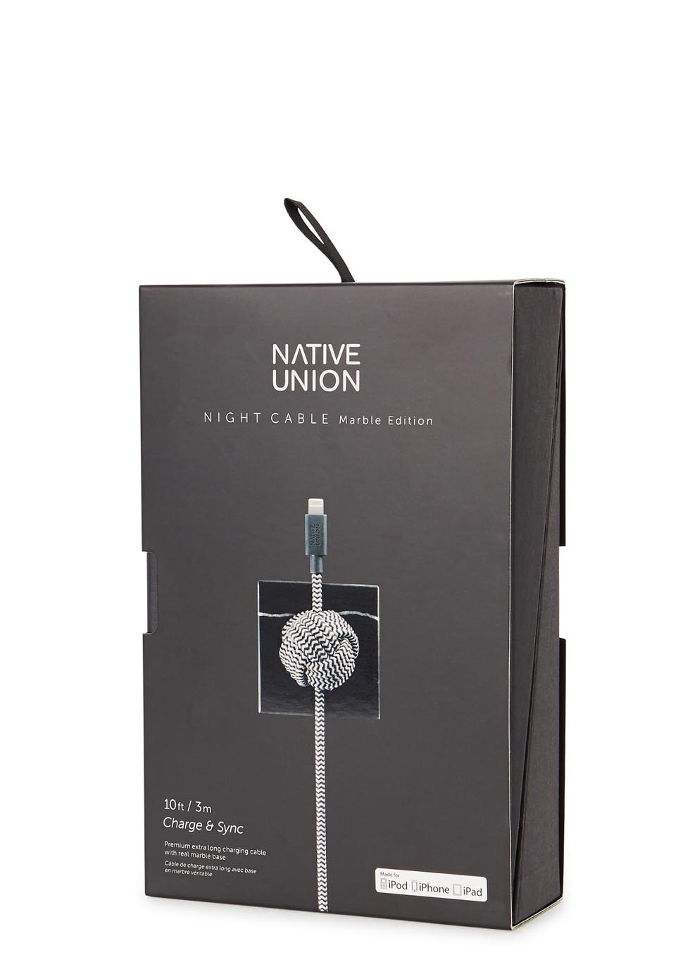 NIGHT marble charge and sync cable set - Native Union
