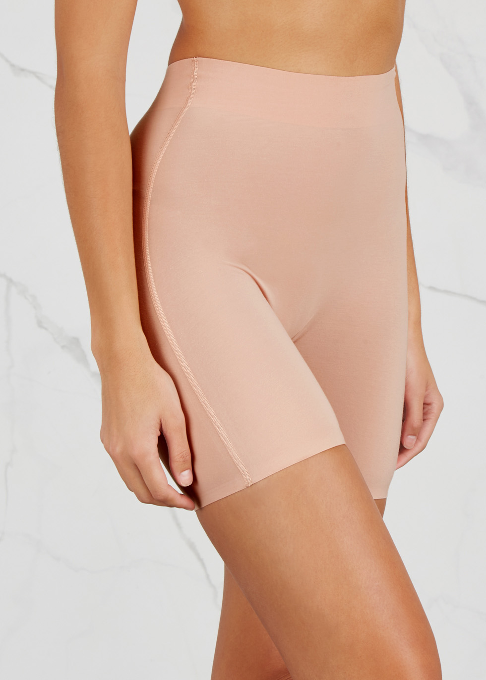 Blush stretch cotton control shorts - Wolford